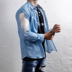 그린바나나 남자 긴팔 셔츠 남방 craft wing blue
