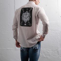 그린바나나 남자 긴팔 셔츠 남방 craft wolf beige