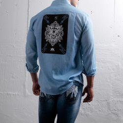 그린바나나 남자 긴팔 셔츠 남방 craft wolf blue