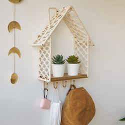 마크라메 벽선반 - 하우스 후크