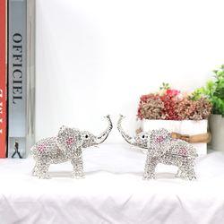 CEL001SL 2P SET 큐빅코끼리 보석함 집들이개업선물