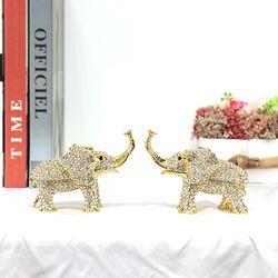 CEL001GO 2P SET 큐빅코끼리 보석함 집들이개업선물