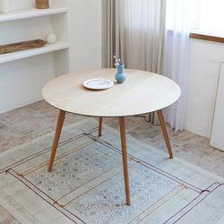 [마루이] 킨홈 오크 1200 원목 원형 식탁테이블(착불)