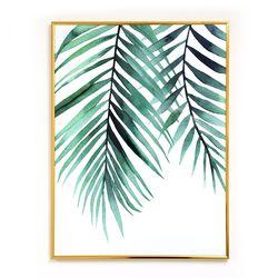 나뭇잎 인테리어 식물액자 트로피칼 아레카 잎 액자