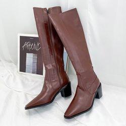 JM-7731 여성 미들 롱 웨스턴 부츠 5cm