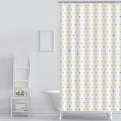 플러스 패턴 샤워커튼(180x180cm)