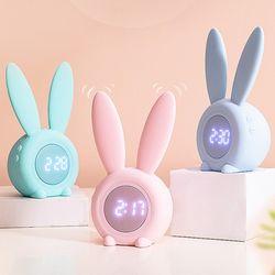 무드조명 토끼귀 수면등 알람탁상시계