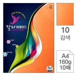 칼라퍼레이드 10 감색 A4 160g 10매입 10개 색상지