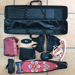 프렌젤 FZ03 프리다이빙 롱핀 하드케이스 핀백 가방