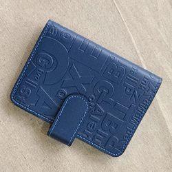 leather 엠보싱 카드지갑