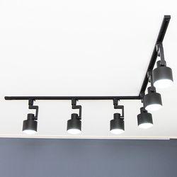 마블 블랙 레일등 2미터 ㄱ자 6구 세트