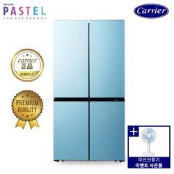 [탁상용 선풍기증정] 캐리어 파스텔 4도어 냉장고 민트 CRF-SN566MFR (566L)