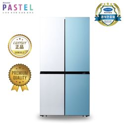 [탁상용 선풍기증정] 캐리어 파스텔4도어 냉장고 콤비 CRF-SN566WMFR (566L)