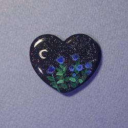 그려낸 달맞이꽃 그립톡 스마트톡 (하트 모양)