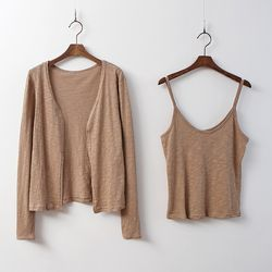 [Set] Multi Cami Tee   Cardigan