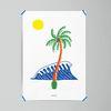 팜트리 야자수 M 유니크 인테리어 디자인 포스터 A3(중형)
