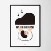 피아노치는 아이 M 유니크 인테리어 디자인 포스터 A3(중형)