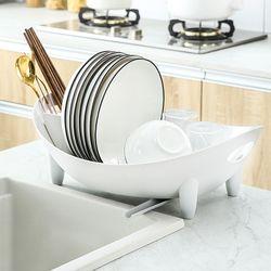 싱크대 자동 물빠짐 설거지 식기건조대 그릇건조대