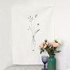 들풀 꽃병 패브릭 포스터(벽장식)