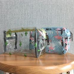 트로피칼 PVC 투명 파우치