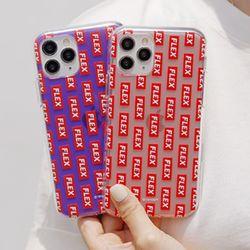 [Try]플렉스 패턴 젤리 케이스.아이폰SE2공용