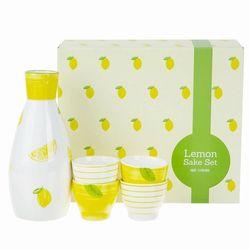 레몬주병과 술잔 4세트