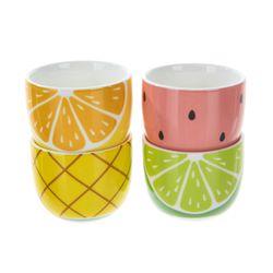 과일 소주잔 선물세트 4P