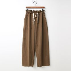 Cotton String Wide Pants