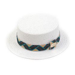 Cool Line White Flat Short Panama Hat 여름페도라