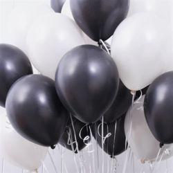 천장장식 펄풍선(헬륨효과)세트-블랙&화이트