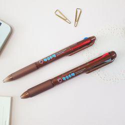 항균쿠펜 0.7mm 3색 3+1색펜 (1개입)