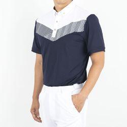 남자 사선 패턴 골프웨어 카라 티셔츠LS102TO3
