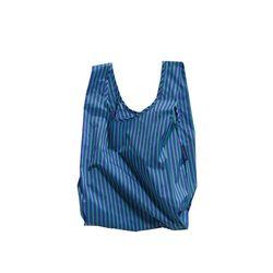 [바쿠백] 소형 베이비 에코백 장바구니 Cobalt and Jade Stripe