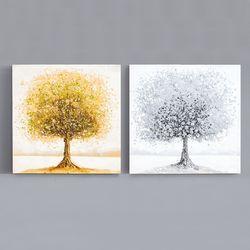 금나무 은나무 인테리어 입체유화 액자 6060