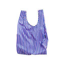 [바쿠백] 휴대용 장바구니 Pink and Blue Stripe