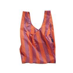 [바쿠백] 휴대용 장바구니 Orange and Mauve Stripe