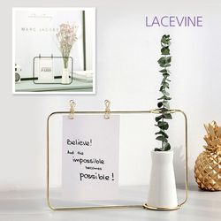 레이스빈 메모꽂이 와이어 화병 꽃병
