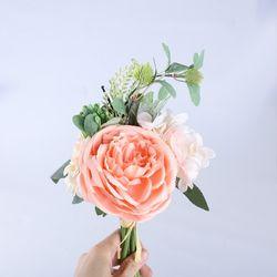 모란꽃 부케 조화 셀프 웨딩 촬영 (2color)