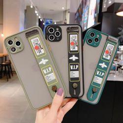 아이폰11 PRO MAX XR XS SE2 8 반투명 스트랩 케이스