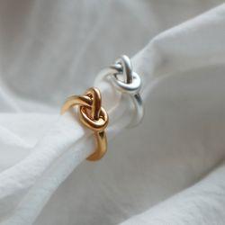 매듭 링 이어커프 귀찌 (2color)