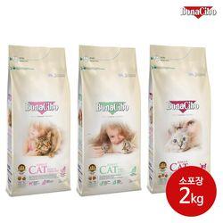 [간식증정] 보나시보 캣 3종 소포장 2kg 고양이사료