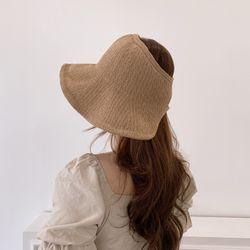 여자 지사 밀짚 모자 보넷 버킷햇 벙거지
