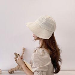 린넨 여성 보넷 벙거지 모자 데일리 버킷햇