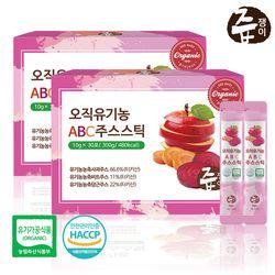 즙쟁이 오직 유기농 ABC주스 스틱 2박스 60포