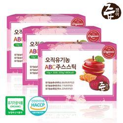즙쟁이 오직 유기농 ABC주스 스틱 3박스 90포