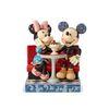 디즈니 카페에 앉아있는 미키와 미니 피규어 16cm