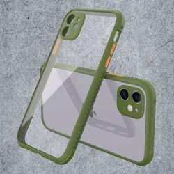 아이폰SE2 컬러풀 클리어 심플 커버 하드 케이스 P518