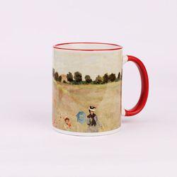 BooKiss Mug 명화 머그컵 - 모네-양귀비 들판