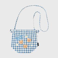 Dot flower bear-blue(스트링 크로스백)