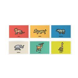 127 동물 일러스트 엽서 패키지